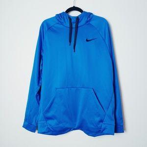 NWT. Nike Blue Therma Dri-Fit Hoodie. Size XL